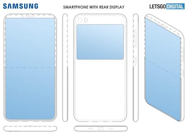 三星新专利被曝光,或推出前后双屏幕手机