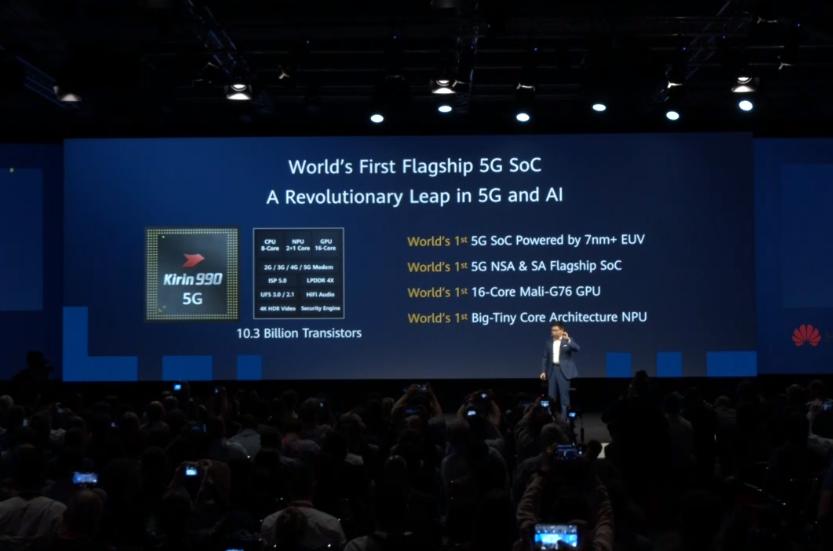 世界首款5G SoC芯片、7nm制程采用达芬奇架构NPU、华为麒麟990硬核登场 !