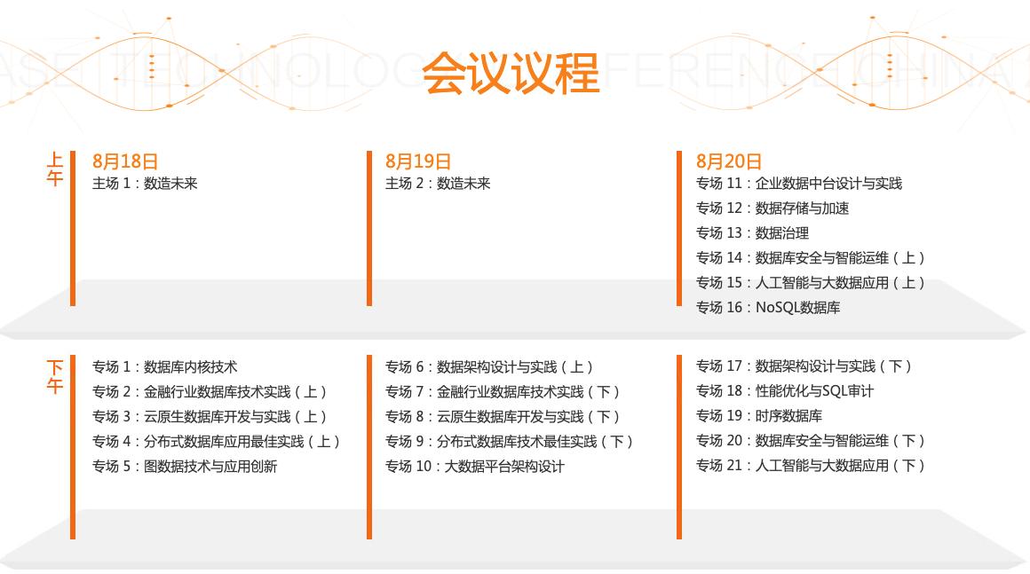 DTCC2021中国数据库技术大会十大亮点精彩预览