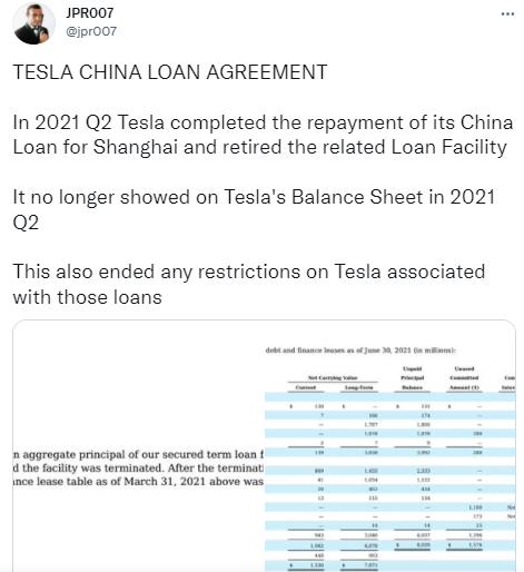 不欠你的了!传特斯拉提前16个月还清中国14亿美元贷款,连续8个季度盈利